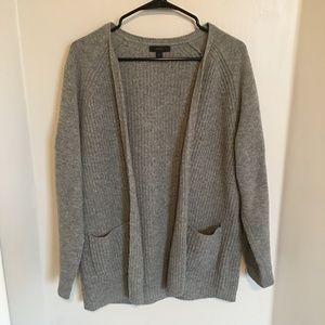 JCREW Wool Perfect Open Cardigan Sweater
